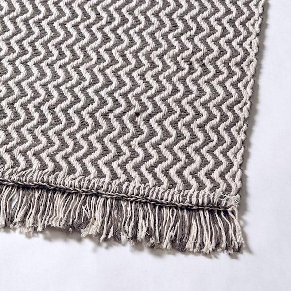 "FILSKOV Rug, flatwoven, handmade gray/white, 5 ' 7 ""x7 ' 10 """
