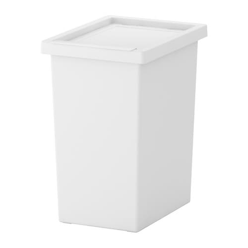 FILUR Bin with lid   Easy to clean as the corners are rounded.