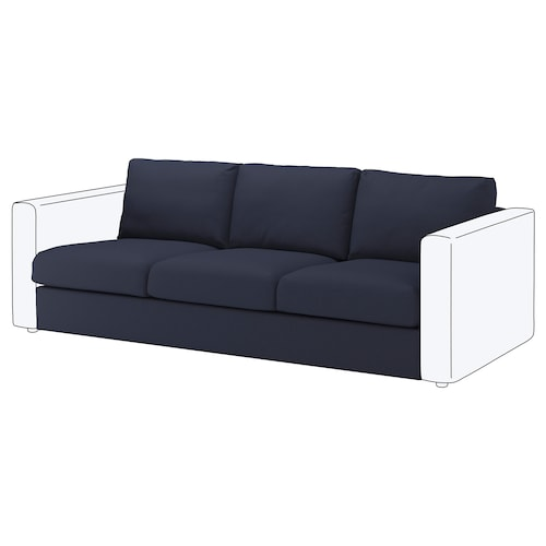 "FINNALA sofa section Orrsta black-blue 33 1/2 "" 28 "" 83 1/8 "" 38 5/8 "" 2 3/8 "" 83 1/8 "" 21 5/8 "" 18 7/8 """