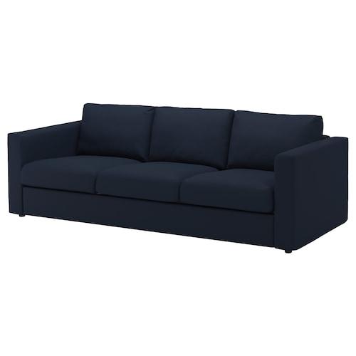 "FINNALA sofa Orrsta black-blue 33 1/2 "" 28 "" 94 7/8 "" 38 5/8 "" 2 3/8 "" 5 7/8 "" 28 "" 83 1/8 "" 21 5/8 "" 18 7/8 """
