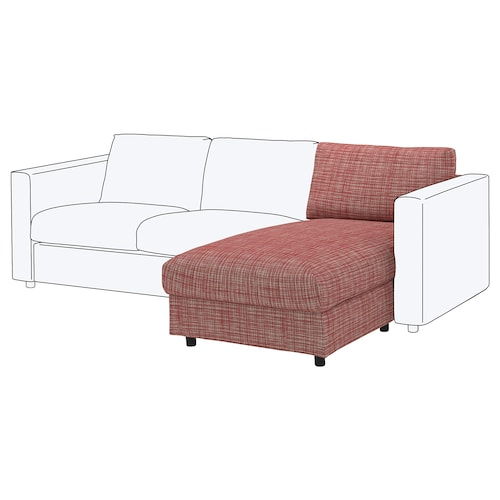 "FINNALA chaise section Dalstorp multicolor 33 1/2 "" 28 "" 31 7/8 "" 64 5/8 "" 2 3/8 "" 31 7/8 "" 49 1/4 "" 18 7/8 "" 6425 oz"