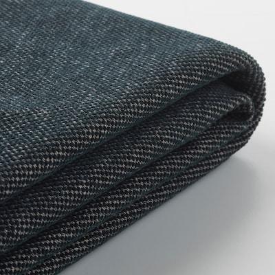 FINNALA Cover for footstool with storage, Tallmyra black/gray