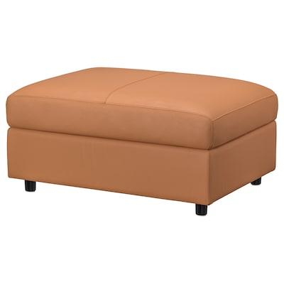 FINNALA Footstool with storage, Grann/Bomstad golden brown