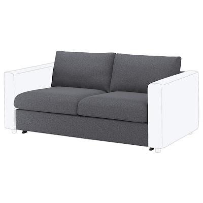 FINNALA Loveseat sleeper section, Gunnared medium gray