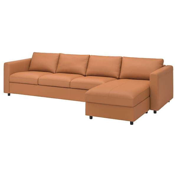 FINNALA Sectional, 4-seat, with chaise/Grann/Bomstad golden brown