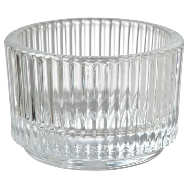 """FINSMAK Tealight holder, clear glass, 1 """""""