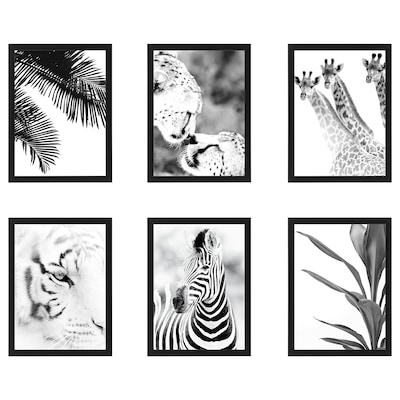 "FISKBO Frame with poster, wildlife, 12 ¼x16 ¼ """
