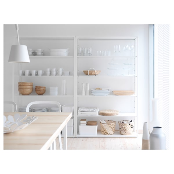 FJÄLKINGE Shelving unit, white, 46 1/2x76 ""