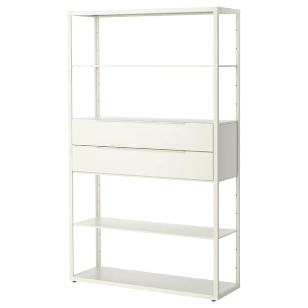 "FJÄLKINGE shelf unit with drawers white 46 1/2 "" 13 3/4 "" 76 "" 88 lb"