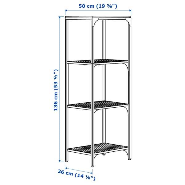 "FJÄLLBO Shelf unit, black, 20 1/8x53 1/2 """