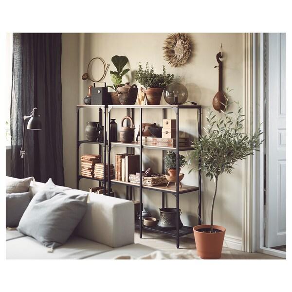 "FJÄLLBO shelf unit black 39 3/8 "" 14 1/8 "" 53 1/2 "" 75 lb"