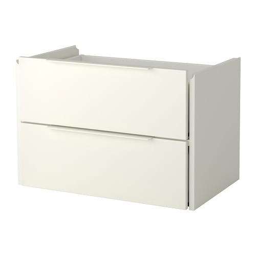 FJÄLKINGE Drawer unit with 2 drawers   The drawer's integrated damper allows it to close slowly, silently and softly.