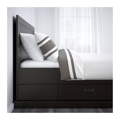 fjell bed frame with storage queen ikea. Black Bedroom Furniture Sets. Home Design Ideas