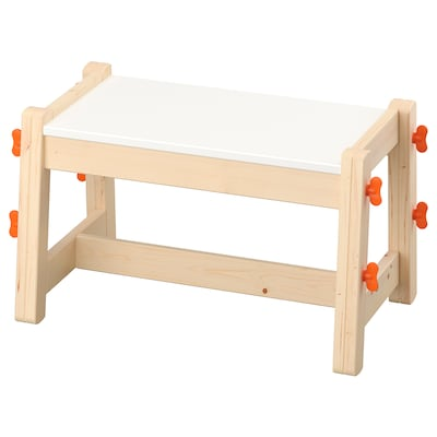 "FLISAT child's bench adjustable 21 5/8 "" 15 "" 17 3/4 "" 12 5/8 "" 17 3/4 "" 18 7/8 "" 11 3/8 "" 12 5/8 """