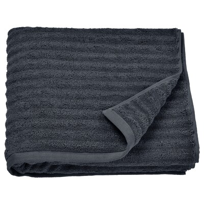 FLODALEN Bath towel, dark gray, 28x55 ""