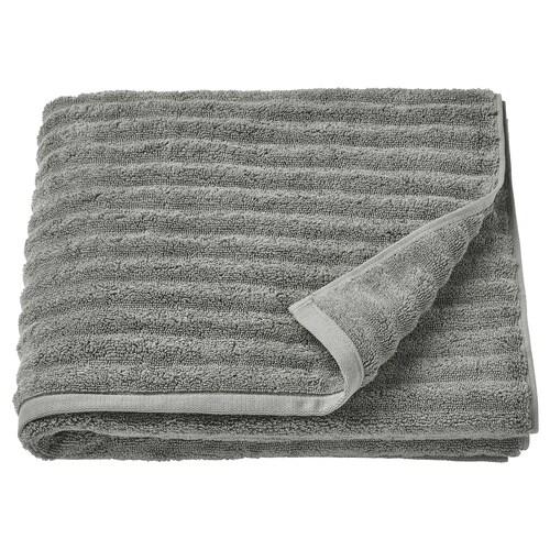 "FLODALEN bath towel gray 55 "" 28 "" 10.55 sq feet 2.29 oz/sq ft"