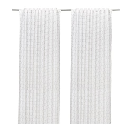 FLÖNG Curtains, 1 pair IKEA The curtains let the light through but provide privacy so they are perfect to use in a layered window solution.