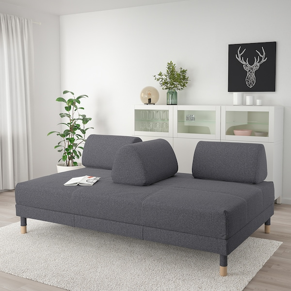 Tremendous Flottebo Sleeper Sofa Gunnared Medium Gray Machost Co Dining Chair Design Ideas Machostcouk