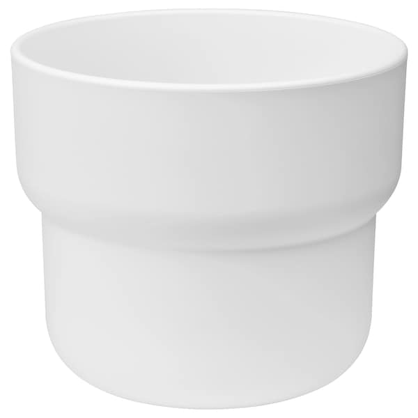 FÖRENLIG Plant pot, indoor/outdoor white, 4 ¾ ""