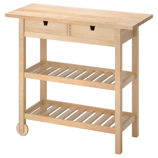 """FÖRHÖJA kitchen cart birch 39 3/8 """" 16 7/8 """" 35 3/8 """""""