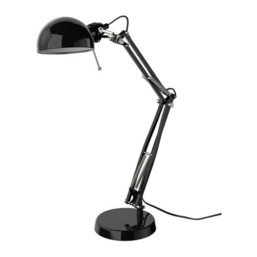 FORSÅ Work lamp   You can easily direct the light where you want it because the lamp arm and head are adjustable.