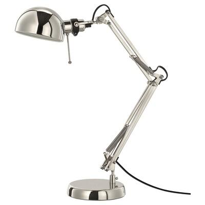 FORSÅ Work lamp, nickel plated