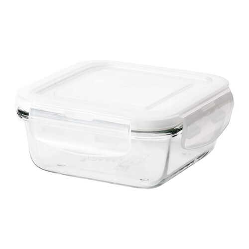 FÖRTROLIG Food container   Snap-and-lock lid creates an aroma-tight seal, so the food you store in the food container stays fresh longer.