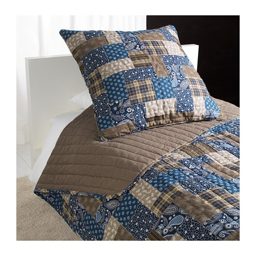 FRÄKEN Bedspread and cushion cover   Extra soft since the bedspread and cushion cover are quilted.