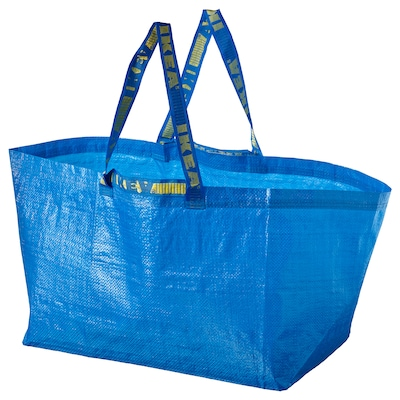 "FRAKTA shopping bag, large blue 21 ¾ "" 14 ½ "" 13 ¾ "" 55 lb 19 gallon"