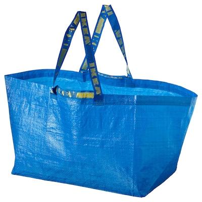 "FRAKTA Shopping bag, large, blue, 21 ¾x14 ½x13 ¾ ""/19 gallon"