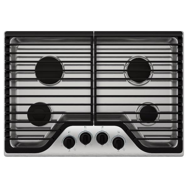 "FRAMTID 4 burner gas cooktop 30 "" 21 "" 4 1/8 "" 49 lb"