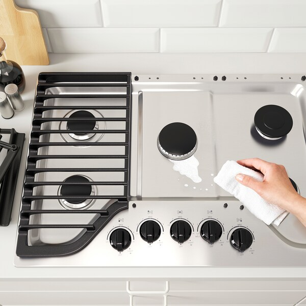 "FRAMTID 5 burner gas cooktop 30 "" 21 "" 4 1/8 "" 50 lb"
