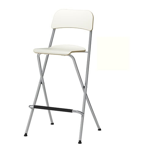 FRANKLIN Bar stool with backrest, foldable   You can fold the chairs, so they take less space when you're not using them.