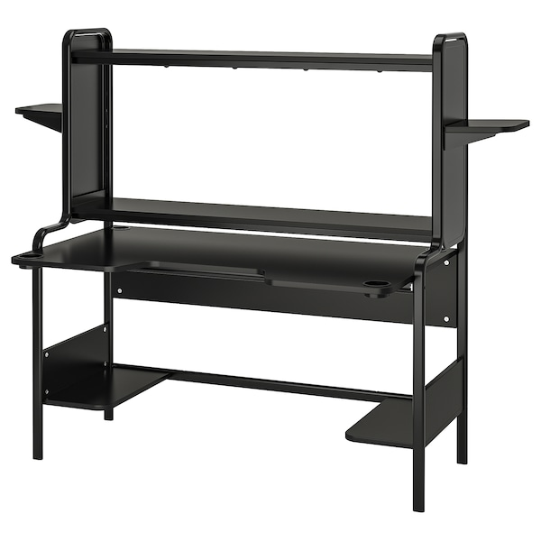 FREDDE Desk, black, 72 7/8x29 1/8x57 1/2 ""