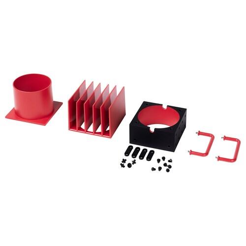 FREKVENS LED spotlight accessories, set of 4 red