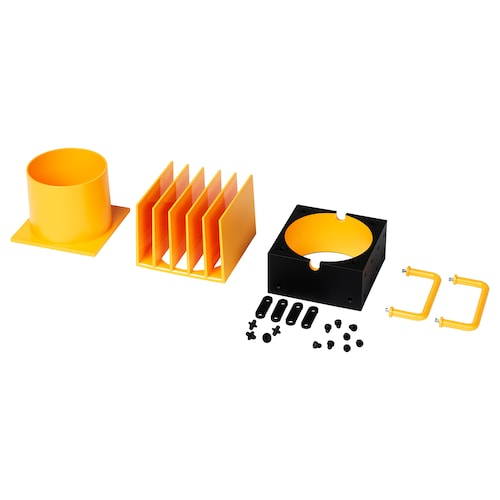 FREKVENS LED spotlight accessories, set of 4 yellow