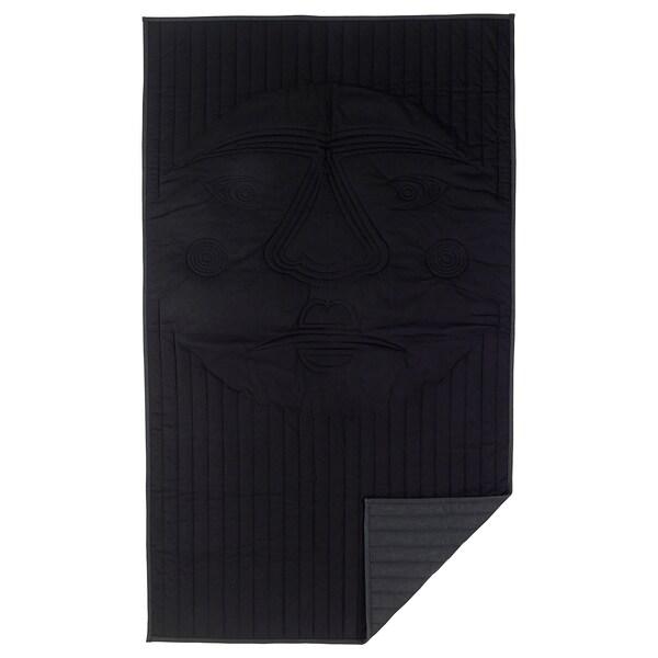 "FREKVENS blanket black 83 "" 47 "" 39 oz"