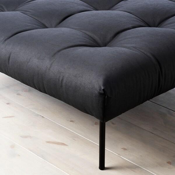 "FREKVENS footstool Vansta black 35 3/8 "" 35 3/8 "" 14 1/8 """