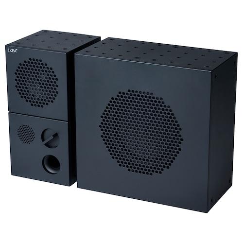 "FREKVENS speaker with subwoofer black 12 "" 4 "" 8 """