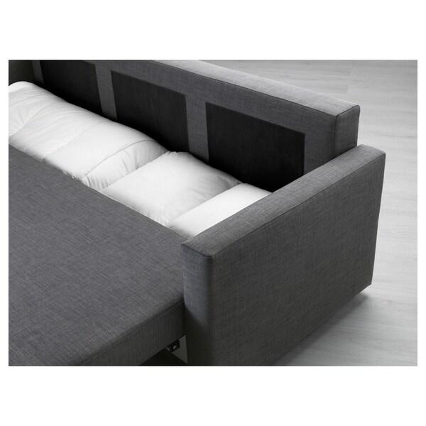 "FRIHETEN sofa-bed Skiftebo dark gray 88 5/8 "" 41 3/8 "" 32 5/8 "" 24 "" 18 1/8 "" 56 3/4 "" 78 3/8 """