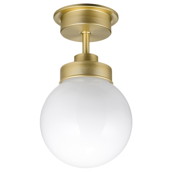 FRIHULT Ceiling lamp, brass color