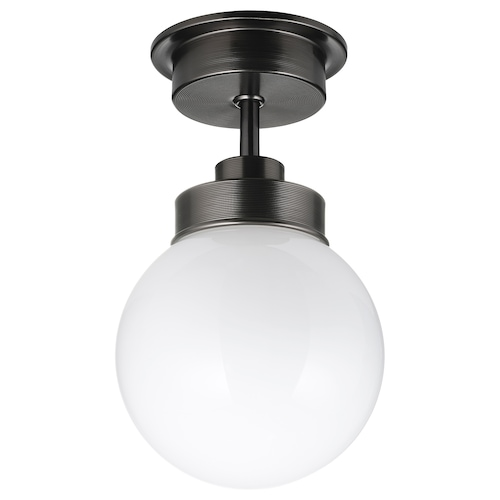"FRIHULT ceiling lamp black 5.3 W 9 7/8 "" 5 7/8 """