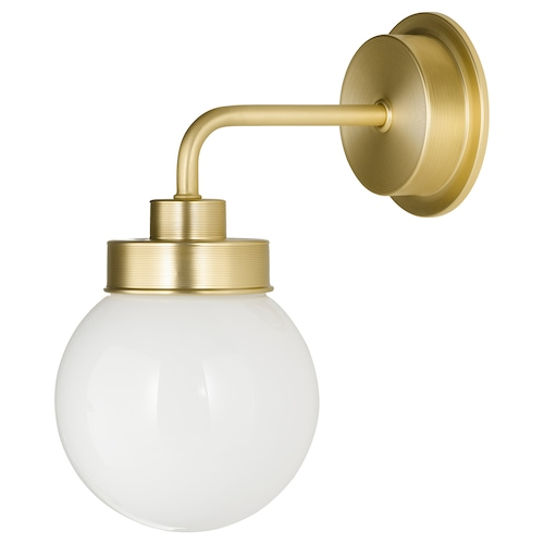 "FRIHULT wall lamp brass color 5.3 W 9 "" 11 "" 5 1/2 """