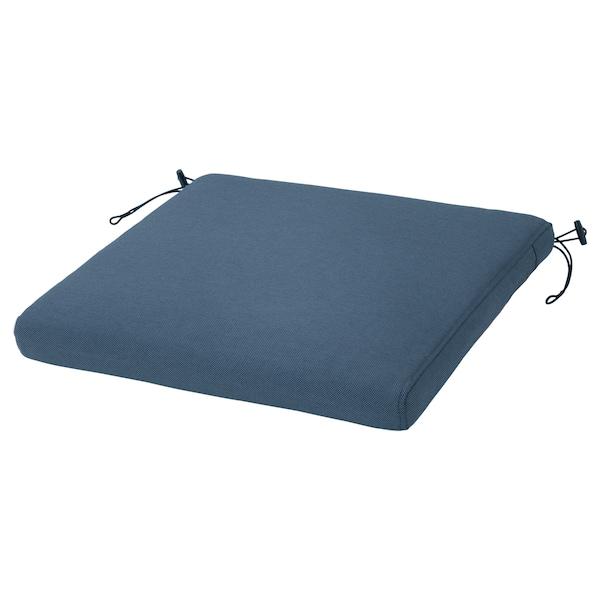 "FRÖSÖN Cover for chair pad, outdoor blue, 17 3/8x17 3/8 """