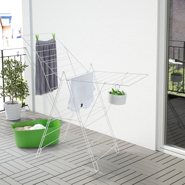 FROST Drying rack, indoor/outdoor, white