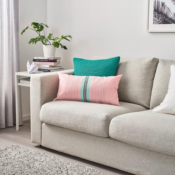 "FUNKÖN back cushion, indoor/outdoor pink/light blue 12 "" 23 "" 11 oz 16 oz"