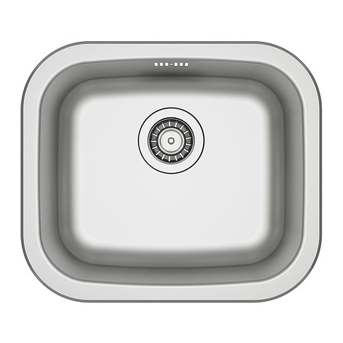 FYNDIG Single-bowl inset sink   Sink in stainless steel; hygienic, durable, resistant and easy to clean.