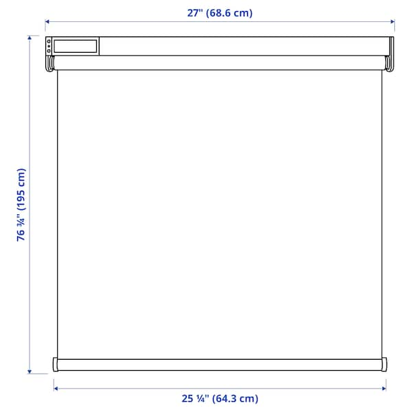 FYRTUR Blackout roller blind, wireless/battery operated gray, 27x76 ¾ ""