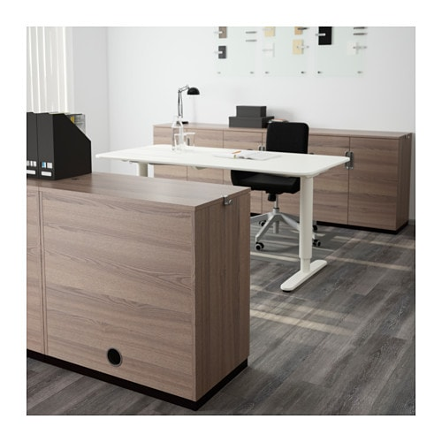 GALANT Cabinet with doors - gray - IKEA