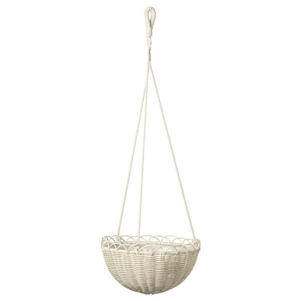 "GALIAMELON Hanging planter, indoor/outdoor white, 10 ¾ """